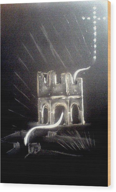 Spirit Of Mellifont Abbey Wood Print