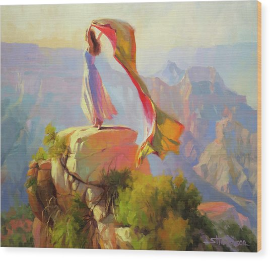 Spirit Of The Canyon Wood Print