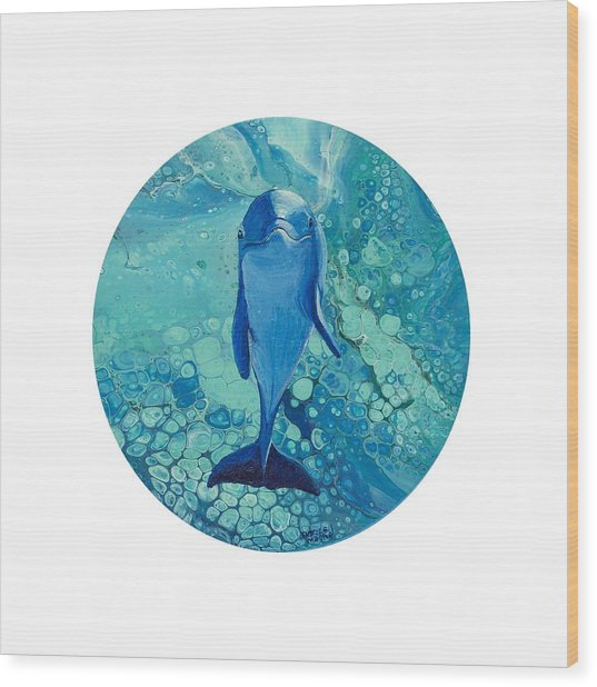Wood Print featuring the painting Spirit Of The Ocean by Darice Machel McGuire