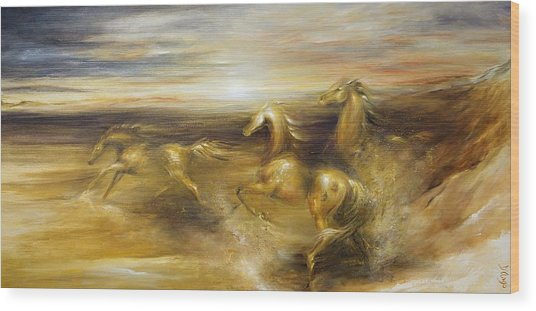 Spirit Of The Warrior Horse Wood Print