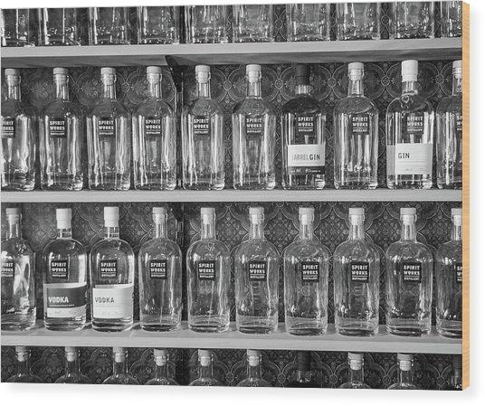 Spirit World Bottles Wood Print