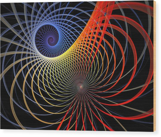 Spirograph Wood Print