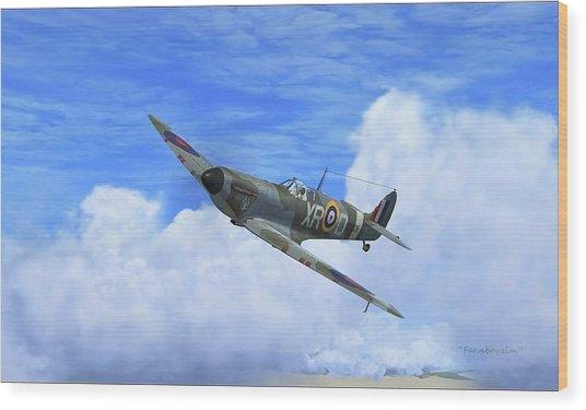 Spitfire Airborne Wood Print