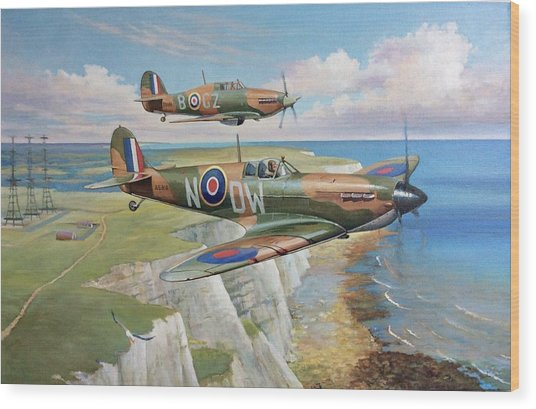 Spitfire And Hurricane 1940 Wood Print