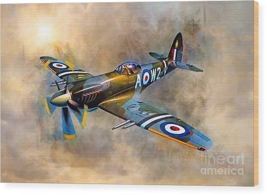 Spitfire Dawn Flight Wood Print