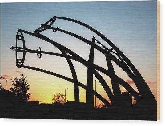 Spitfire Sunrise Wood Print