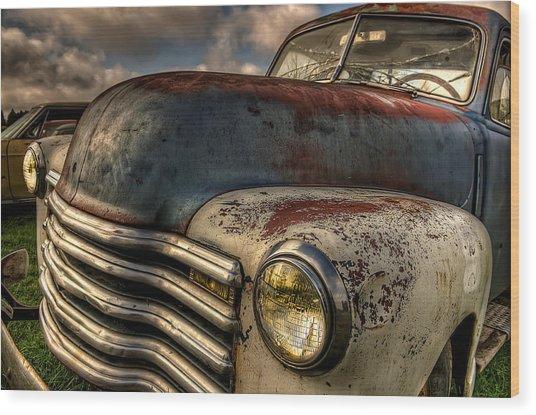 Spittin Rust Wood Print