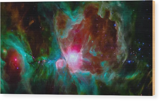 Spitzer's Orion Wood Print