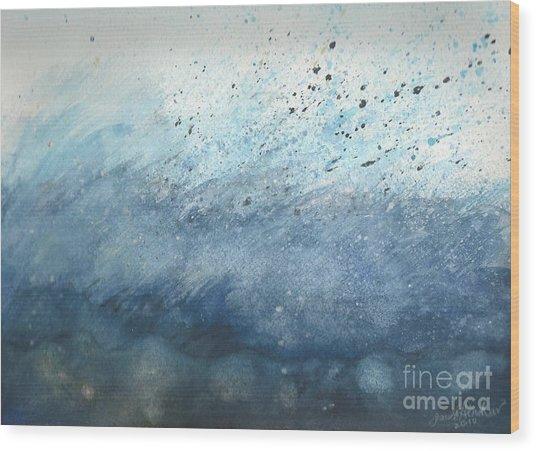 Splash   Wood Print by Janet Hinshaw