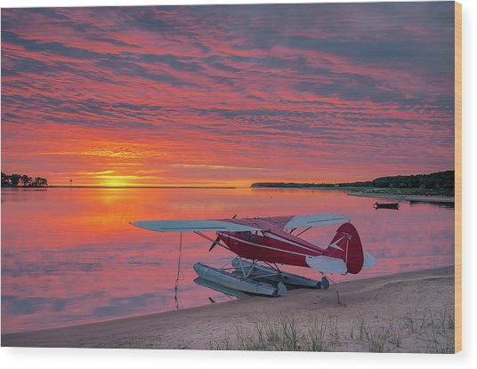Splash-in Sunrise Wood Print