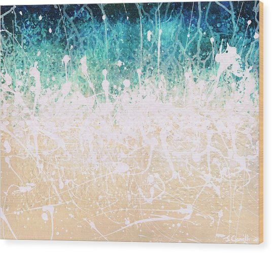 Wood Print featuring the painting Splash by Jaison Cianelli