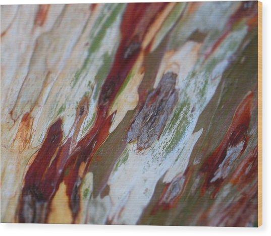 Splash Of Amber Wood Print