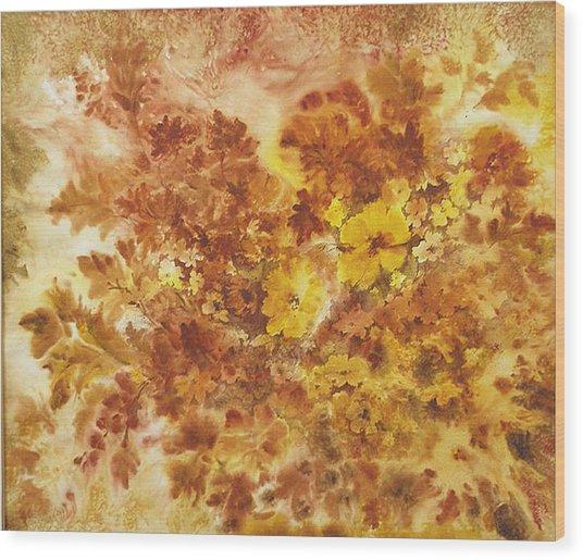 Splash Of Autumn Color Wood Print by Lois Mountz