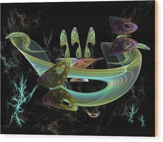 Splendid Planet Wood Print by Ricky Kendall