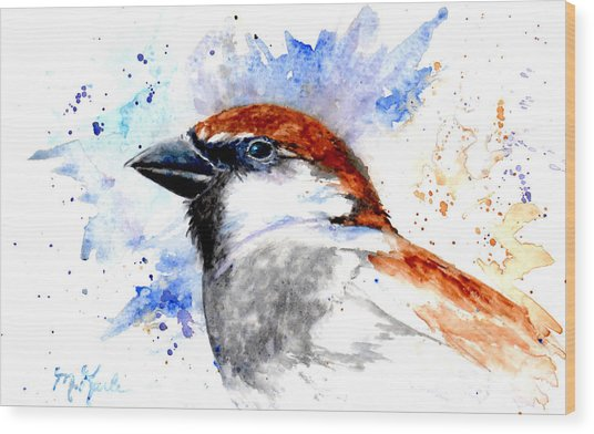 Splendid Sparrow Wood Print