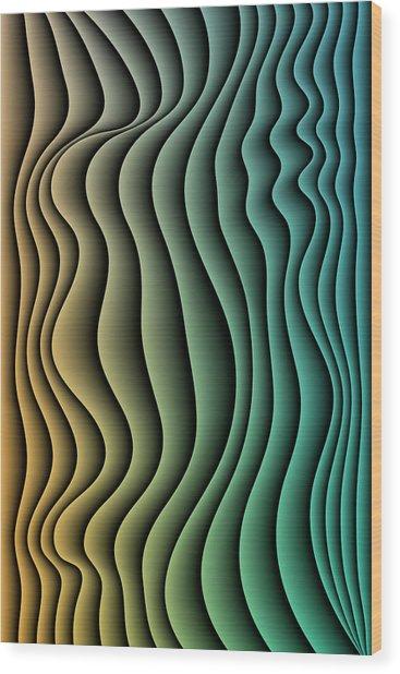 Split Infinities Wood Print