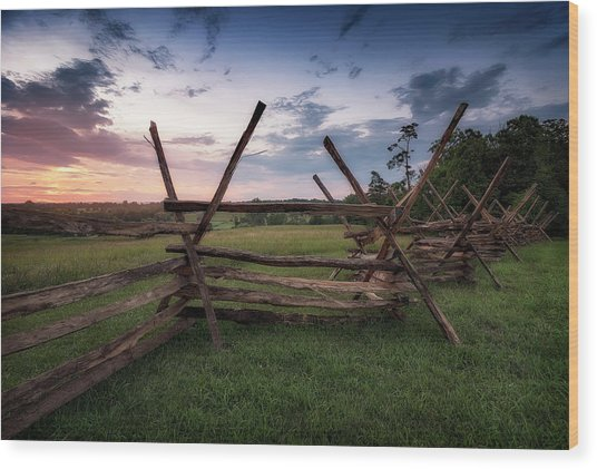 Wood Print featuring the photograph Split Rail Fence by Ryan Wyckoff