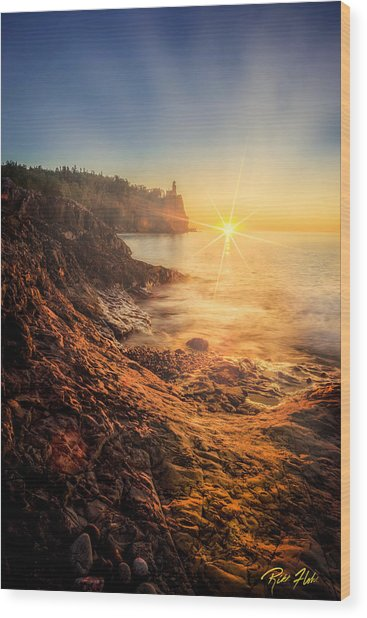 Split Rock Glory Wood Print