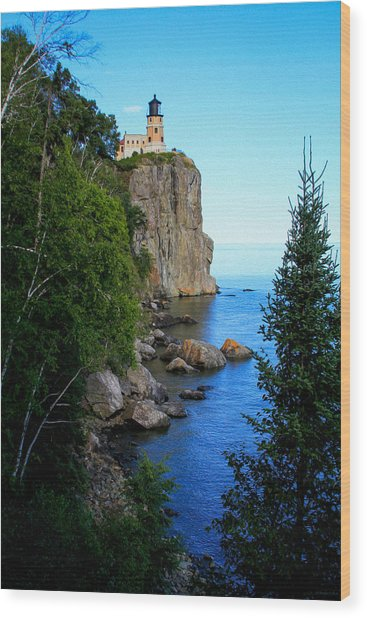 Split Rock Lighthouse Wood Print