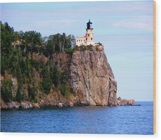 Split Rock Lighthouse Wood Print by Bridget Johnson