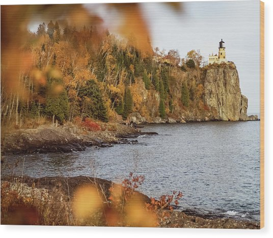 Wood Print featuring the photograph Split Rock Lighthouse by Whitney Leigh Carlson