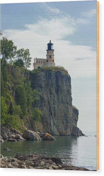 Split Rock Lightouse Wood Print