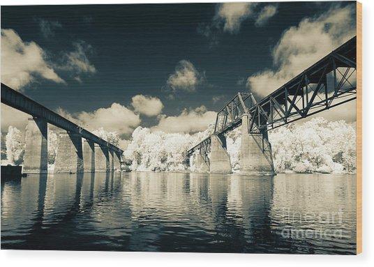 Congaree Trestles Cayce, Sc Wood Print