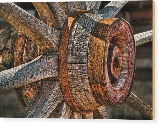 Spokes Wood Print