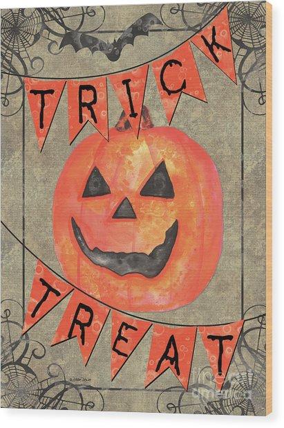 Spooky Pumpkin 1 Wood Print