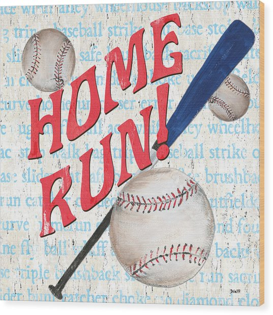 Sports Fan Baseball Wood Print