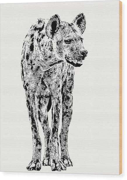 Spotted Hyena Full Figure Wood Print