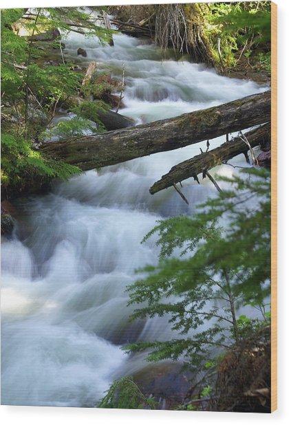 Sprague Creek Glacier National Park Wood Print