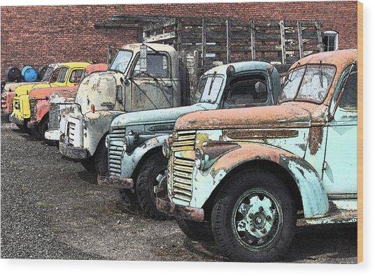 Sprague Trucks Wood Print by Brent Easley