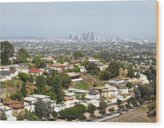 Sprawling Homes To Downtown Los Angeles Wood Print