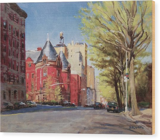 Spring Afternoon, Central Park West Wood Print