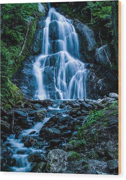 Spring At Moss Glen Falls Wood Print