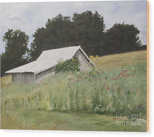 Enveloped By Wildflowers Wood Print by Carla Dabney