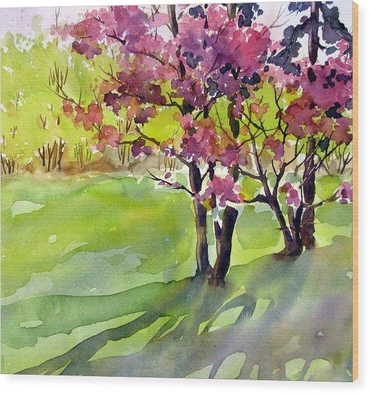 Spring Blossoms Wood Print by Chito Gonzaga