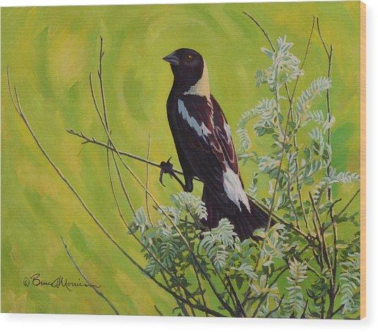 Spring Bobolink Wood Print