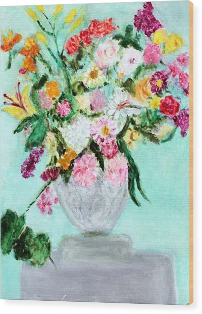 Spring Bouquet Wood Print by Michela Akers
