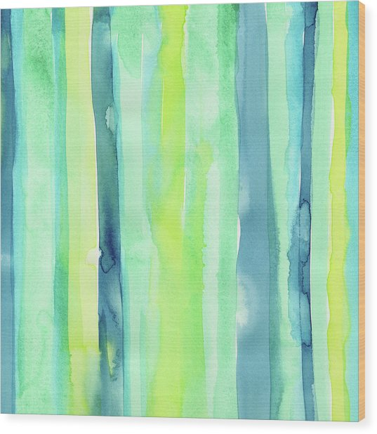 Spring Colors Stripes Pattern Vertical Wood Print