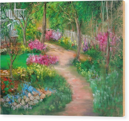 Spring Daze Wood Print by Sally Seago