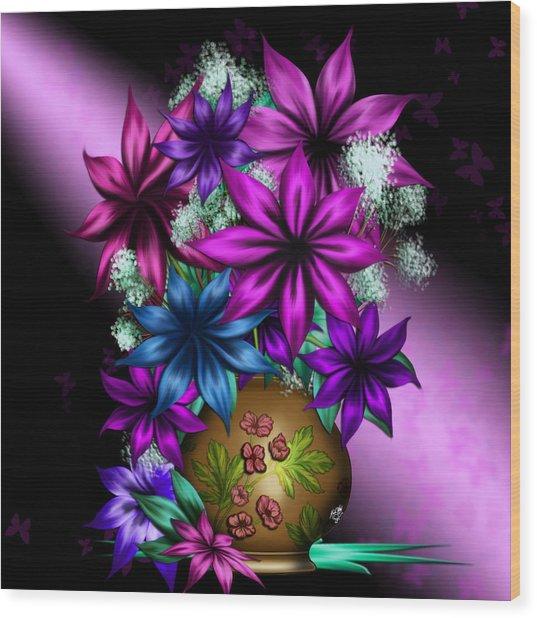 Spring Floral Wood Print