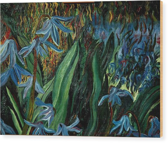 Spring Flower Wood Print by Gregory Allen Page