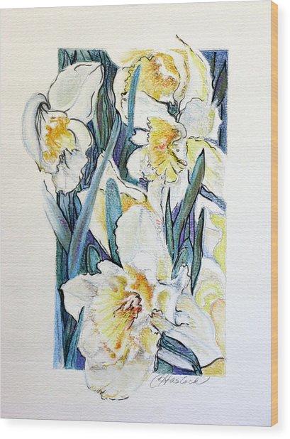 Spring Frills Wood Print by Carole Haslock