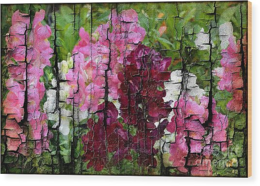 Wood Print featuring the painting Spring Garden H131716 by Mas Art Studio
