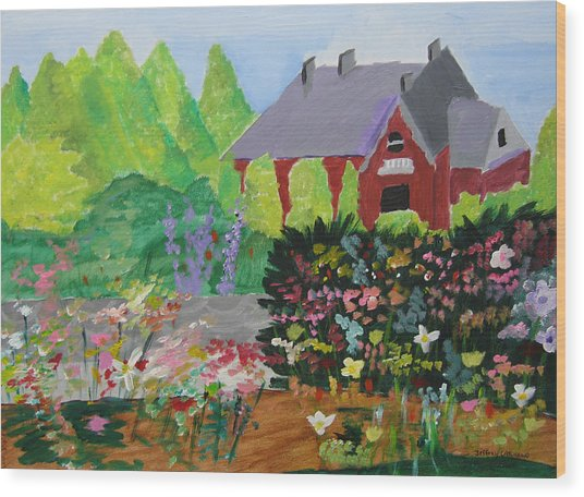 Spring Garden Wood Print by Jeff Caturano
