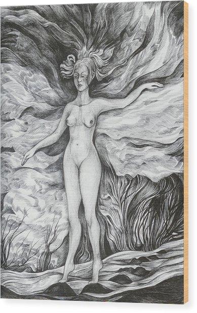 Spring II Wood Print by Anna  Duyunova