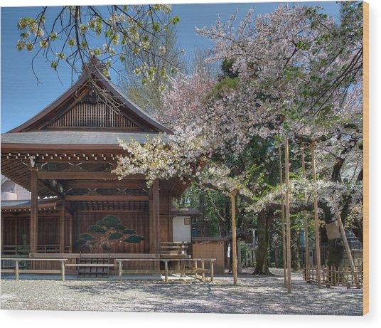 Spring In Edo Wood Print