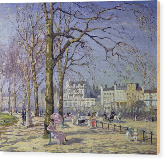 Spring In Hyde Park Wood Print